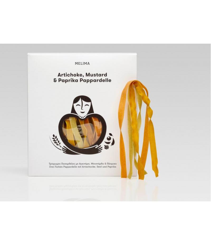 Artišoki, sinepi ja paprika pasta pappardelle 500g