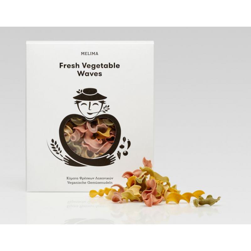 Fresh Vegetable Waves- handmade Greek pasta 500g