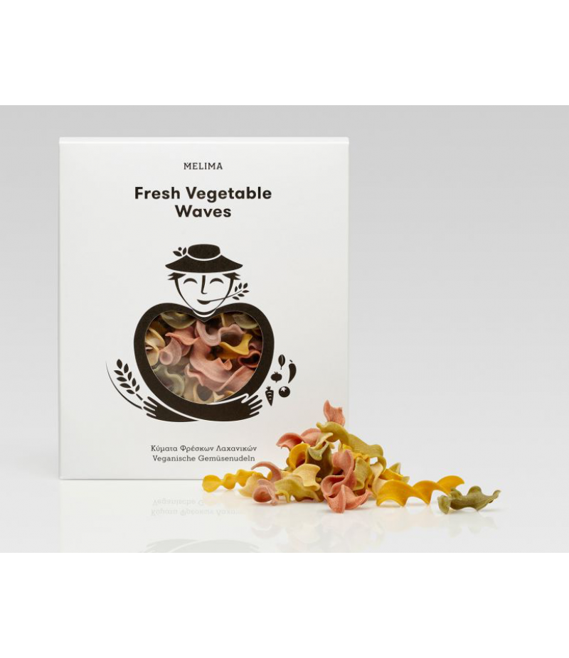 Fresh Vegetable Waves- handmade Greek pasta 500g