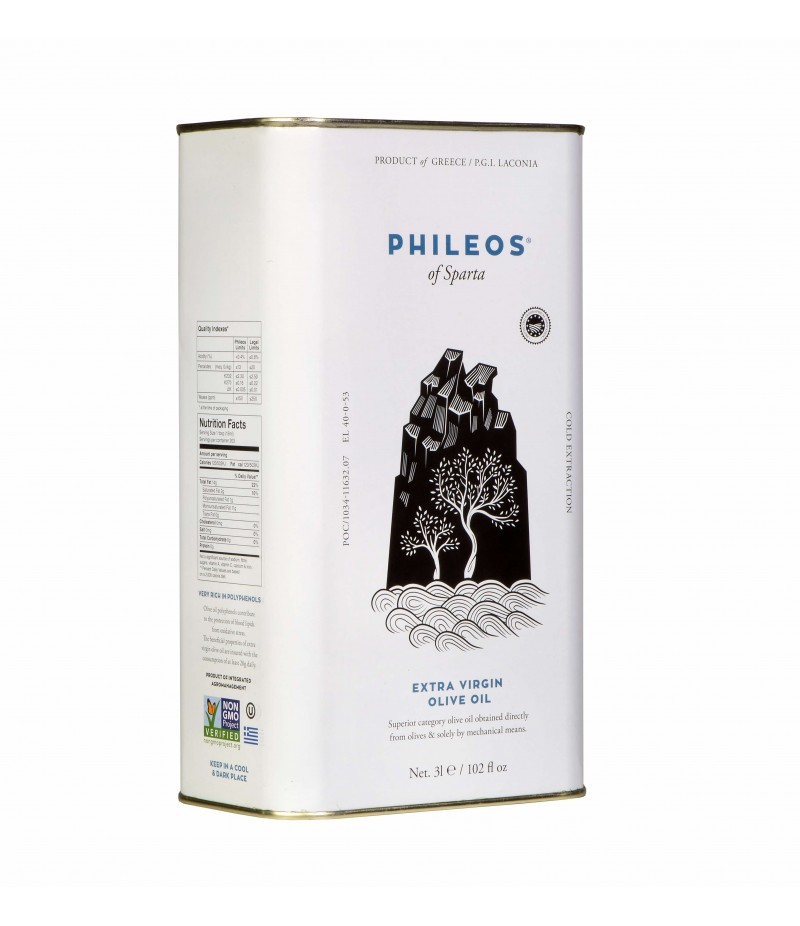 EVOO ''PHILEOS OF SPARTA' 3L