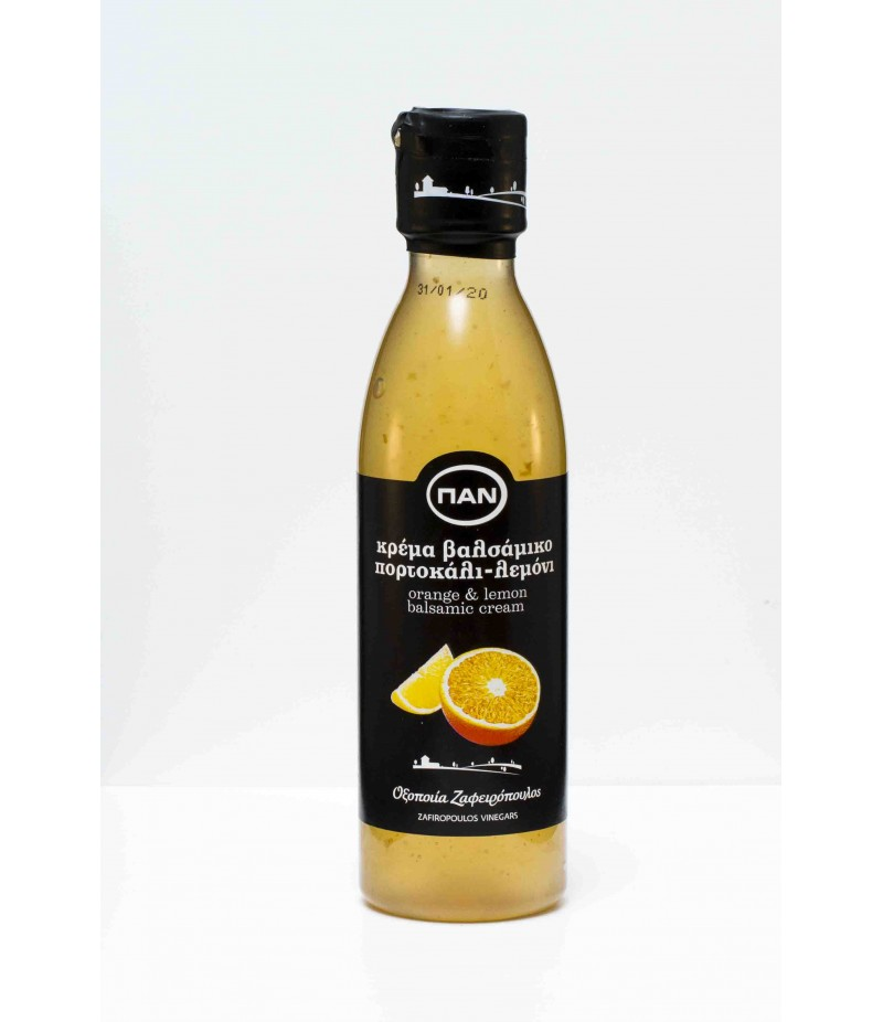 Orange & lemon white balsamic cream 250ml