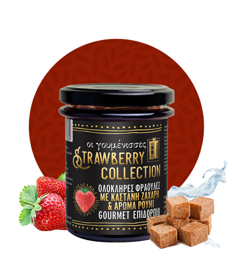 Strawberry collection with brown sugar and Rum