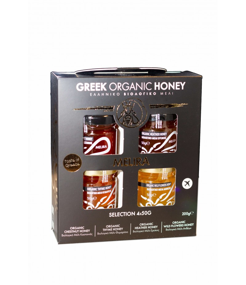 Greek Organic Honey 4 x 50gr